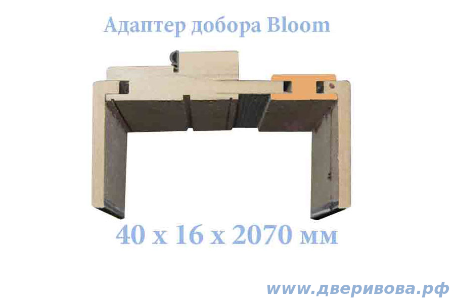 Адаптер добора 40 мм. Bloom/Collection (за 0,5 шт)